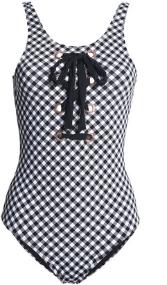 Tart Collections Blakely Lace-up Gingham Swimsuit