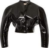 Christopher Kane Cropped Patent Leather Jacket