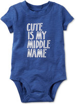 Carter's Cute Is My Middle Name Bodysuit, Baby Boys (0-24 months)