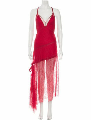 Manning Cartell Australia V-Neck Long Dress Pink