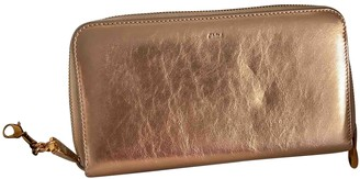 Chloé Gold Leather Wallets