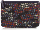 Pierre Hardy Cube and camouflage-print nylon pouch