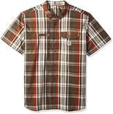 Carhartt Men's Big and Tall Force Ridgefield Plaid Short Sleeve Shirt