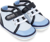 HUGO BOSS Cotton and leather trainers 0-2 years