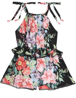 Zimmermann Kids Bellitude floral cotton playsuit