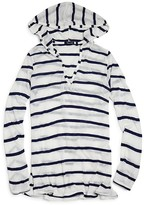 Splendid Girls' Nautical Stripe Hooded Tunic Cover Up - Big Kid