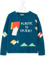 Bobo Choses colour-block embroidered sweater