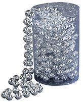 Kurt Adler 15' Silver Bead Christmas Garland