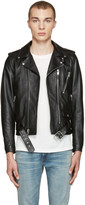 Saint Laurent Black Blood Luster Biker Jacket