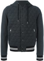 Moncler logo quilted hoodie