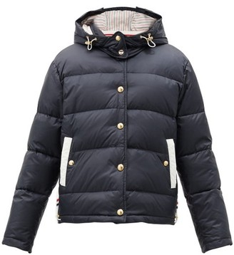 Thom Browne Hooded Quilted Down-filled Jacket - Navy