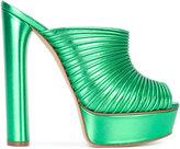 Casadei open toe platform mules - women - Leather/Kid Leather - 36