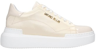 Marc Ellis Sneakers In Gold Satin