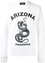DSQUARED2 Arizona snake printed sweatshirt - men - Cotton - M