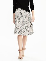 Banana Republic Floral Box-Pleat Skirt