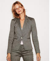 Express linen-blend twill one button blazer