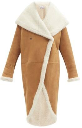 Loewe Shawl-lapel Shearling Coat - Camel