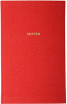 Liberty of London Designs Slim A5 Embroidered Gates Journal - Red