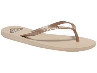 Roxy womens Bermuda Flip Flop Sandal Gold