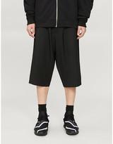 Y-3 Y3 Wide-leg stretch-jersey shorts