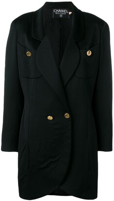 Chanel Pre-Owned 1980's elongated blazer coat