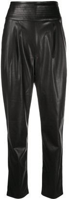 Twin-Set High-Waisted Faux Leather Trousers