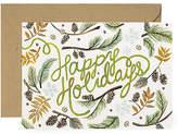 Lana's Shop Set of 8 Mini Holiday Cards - Happy Greenery