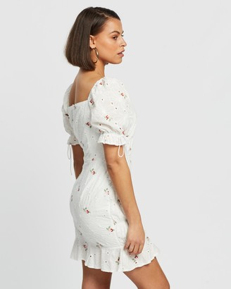 Missguided Broderie Anglaise Embroidered Mini Dress