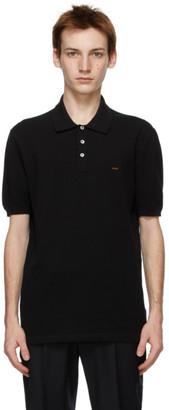 ermenegildo zegna couture Black Essential Short Sleeve Polo