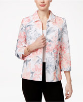 Alfred Dunner Petite Rose Hill Floral-Print Jacket