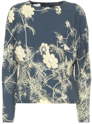 Dries Van Noten Floral crepe top