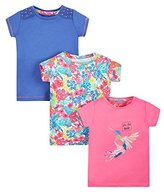 Mothercare Girl'slam Tropic - 3 Pack T - Shirt,6- (Manufacturer Size:122)