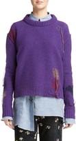 Acne Studios Women's Leniz Distressed Wool Sweater