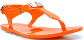 Michael Kors Michael by Plate Jelly - Orange Rubber Jelly Thong Sandal