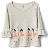 Gap Tulle embellished bell-sleeve tee