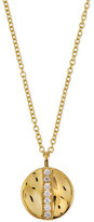 Ippolita 18K Gold Senso; Medium 15.5mm Disc Pendant Necklace with Diamonds