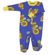 New Jammies Blue Sunflowers Organic Footie - Infant