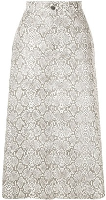 Georgia Alice Snakeskin Print Skirt