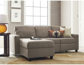 Serta at Home Palisades Reclining Sectional Color: Oatmeal, Orientation: Left Hand Facing