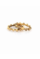 House Of Harlow Spike Stack Ring in Yellow Gold