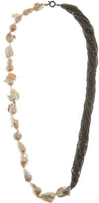MCL by Matthew Campbell Laurenza Half Baroque Pearl & Spinel Necklace