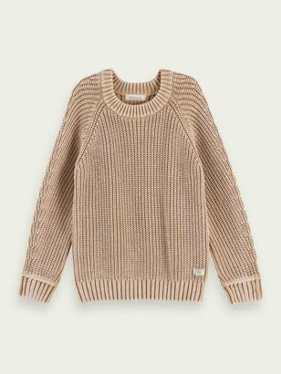Scotch & Soda Structured knit cotton pullover | Boys