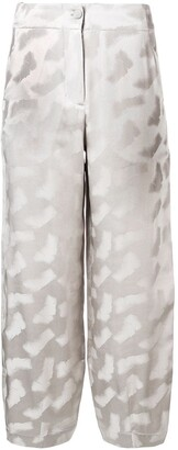 Emporio Armani Loose Fit Cropped Trousers