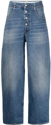 MM6 MAISON MARGIELA Whiskering-Effect Buttoned Jeans
