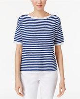 Eileen Fisher Organic Linen-Cotton Striped Top