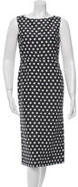 Rochas Sleeveless Polka-Dot Dress