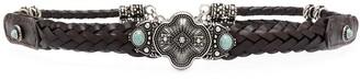 Etro Woven Jewel Buckle Belt