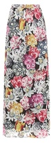 Burberry Floral-printed Silk Maxi Skirt