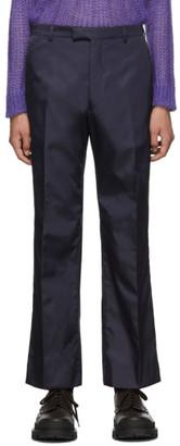 Prada Navy Nylon Gabardine Trousers