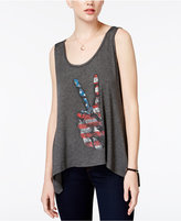Jessica Simpson Flag Graphic Tunic Tank